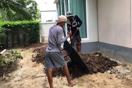 หน้าดิน ดินปลูกต้นไม้ เสริมดินรอบบ้าน
